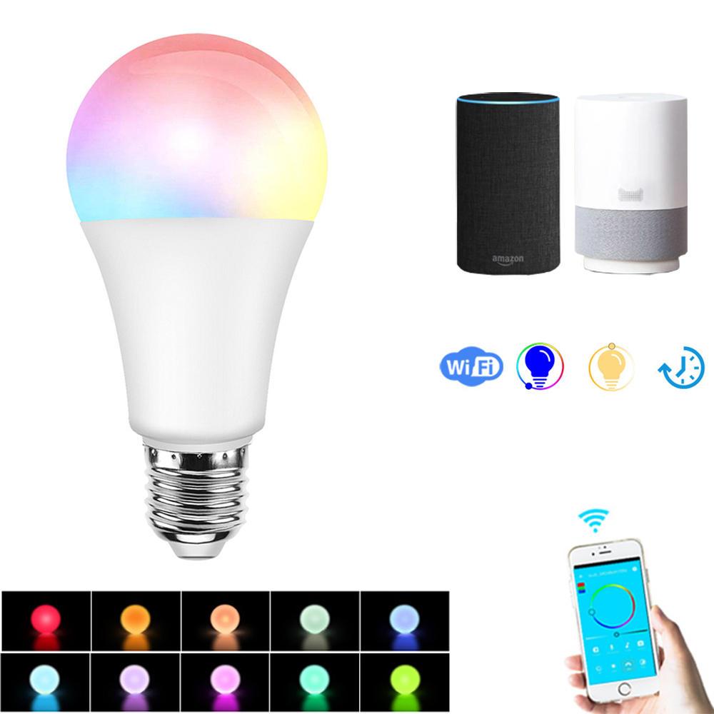 Wifi Light Bulb >> E27 7 5w Rgbw Dimmable Smart Wifi App Control Led Light Bulb Work