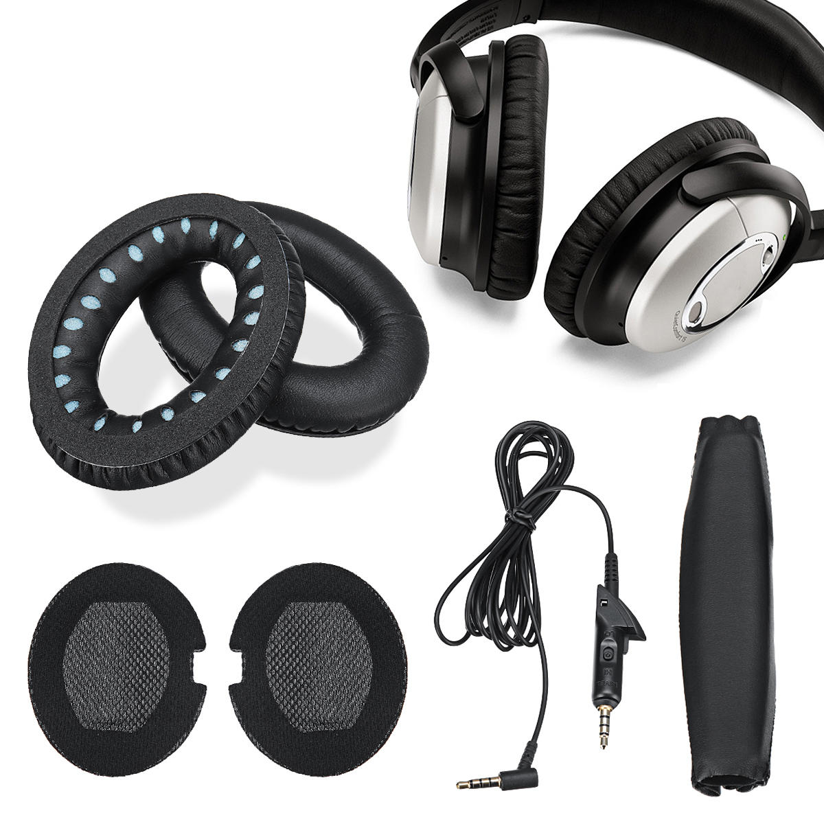 Cuffie sostitutive Auricolari Cavo audio Set di archetti per BOSE QuietComfort QC15
