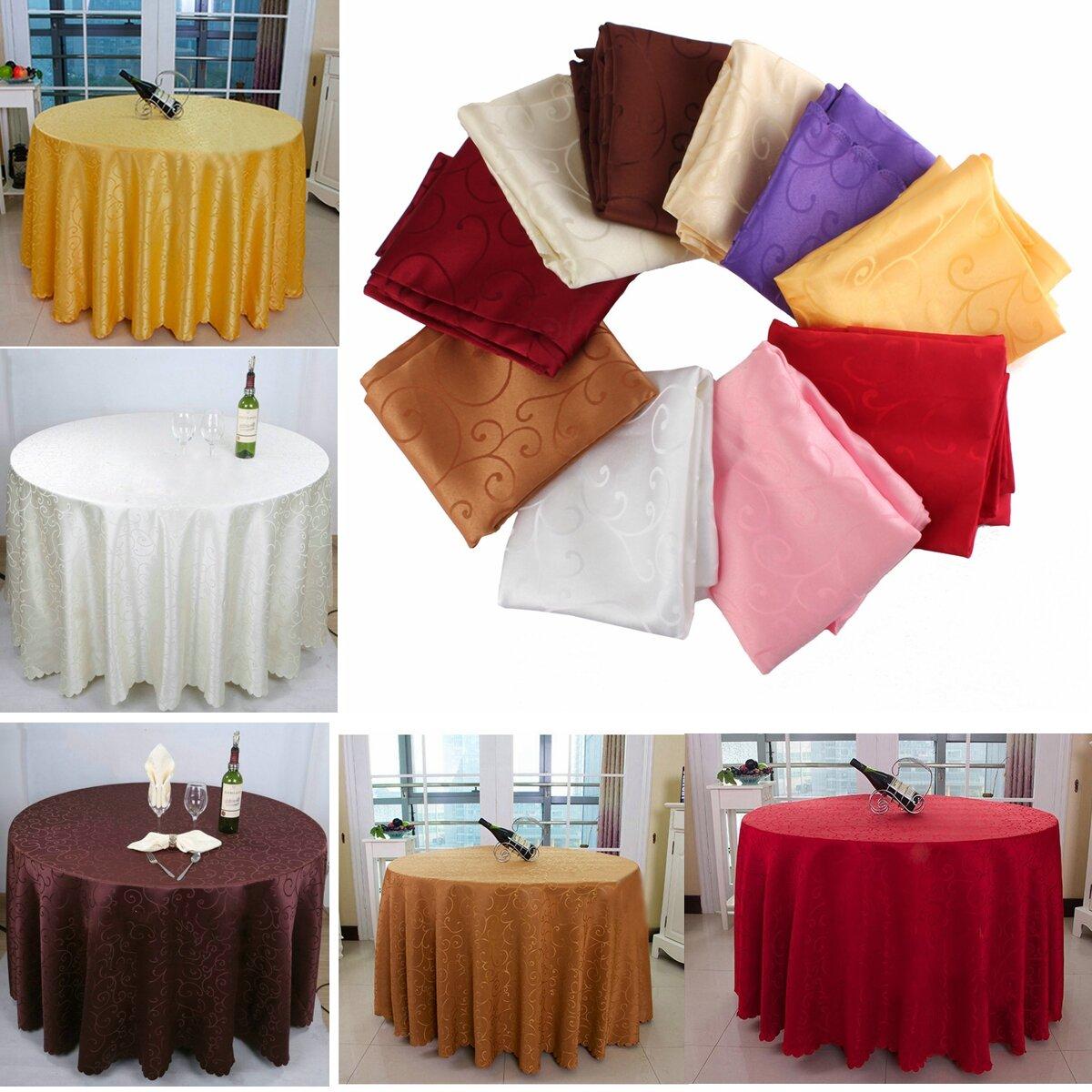Khăn trải bàn tròn 180cm Polyester thấm cho nhà hàng khách sạn Trang trí tiệc cưới