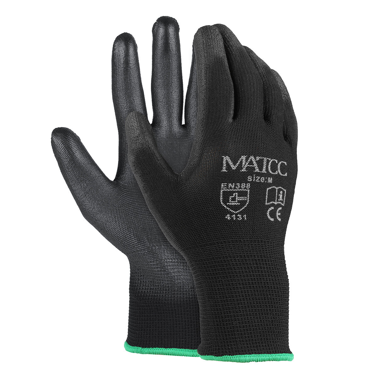 6e8a30d33e858 12pairs pu nitrile coated safety work gloves garden builders grip ...