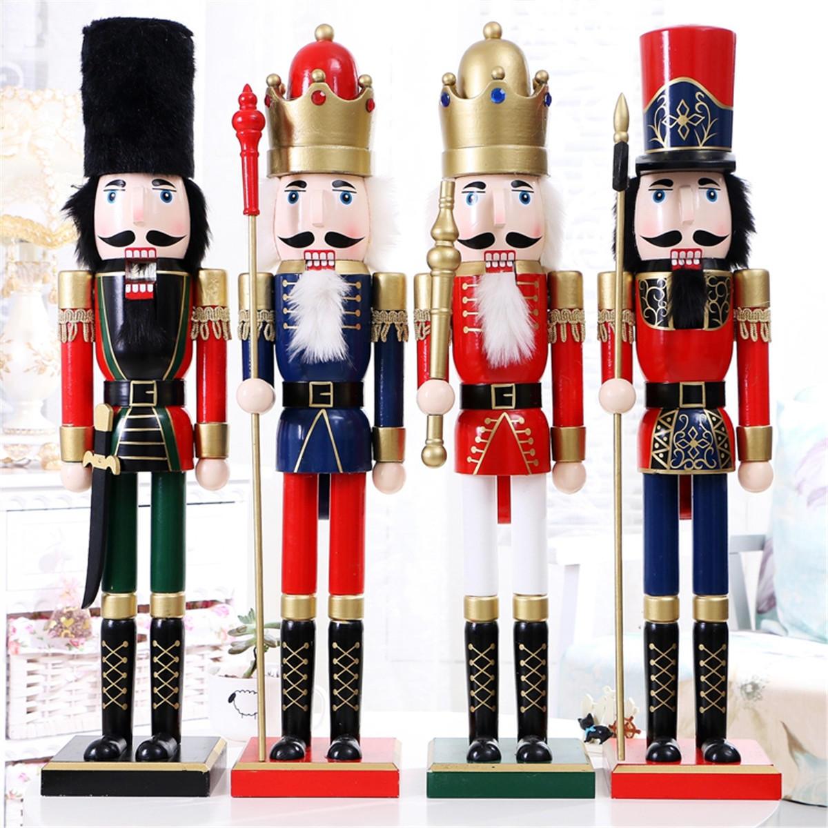 60 см Щелкунчик Солдат Новогоднее Украшение Щелкунчики Xmas Кухня Деревянная Кукла