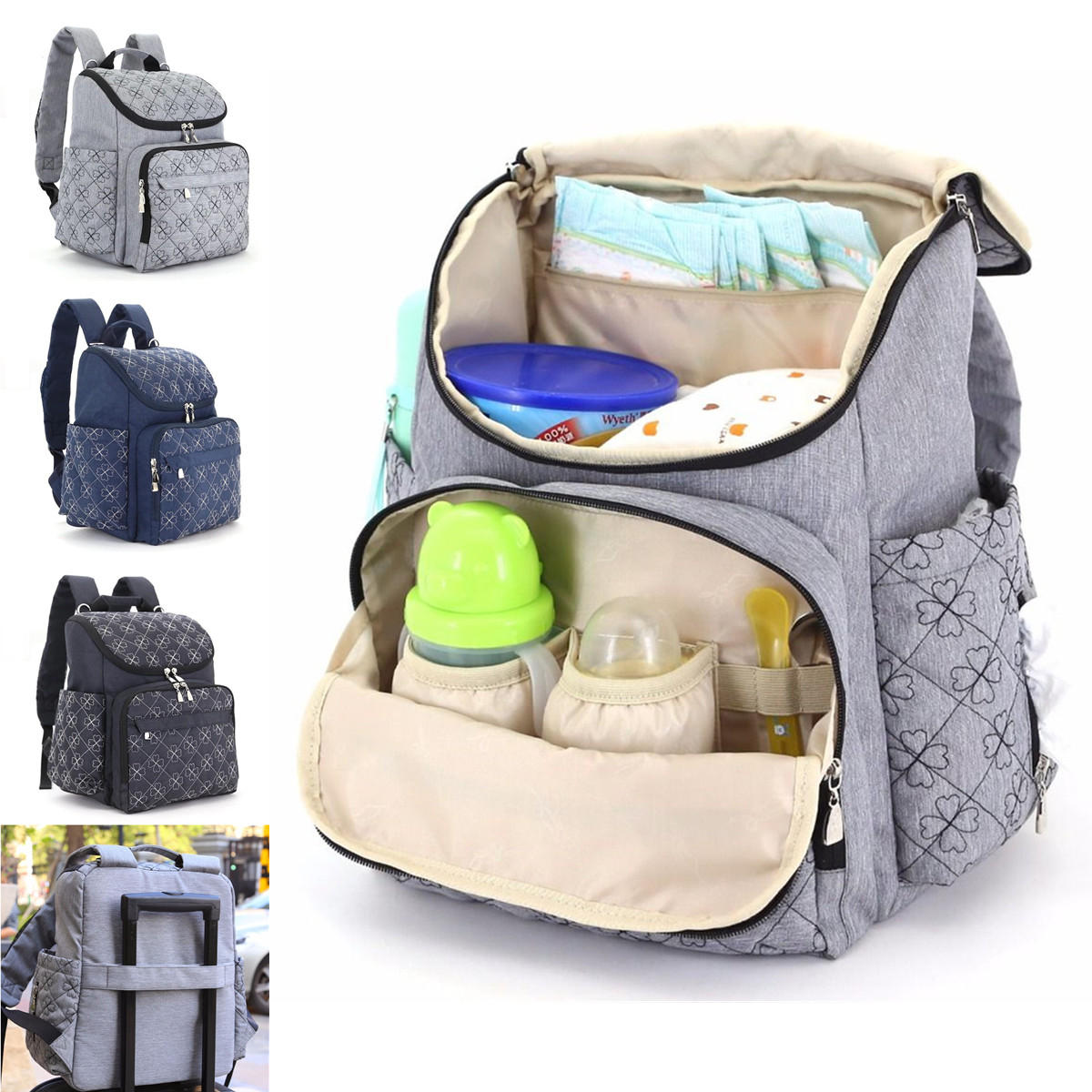 892897f80 IPRee™ Travel Backpack Mummy Maternity Baby Diaper Bag Nappy Organizer  Nursing Pouch - Dark Blue COD