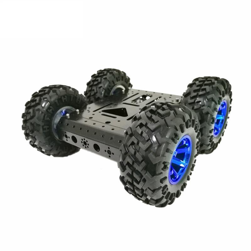 C3 4WD High Hardess of Steel Smart Chassis Car DIY Kit With 130mm Rubber Wheel +DC 12V Motor