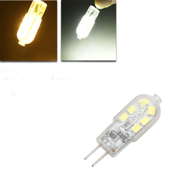 G4 LED Bulb 1.5W 120lm 12 SMD Pure White/Warmwhite Corn Light Spot Lightt AC/DC 12V