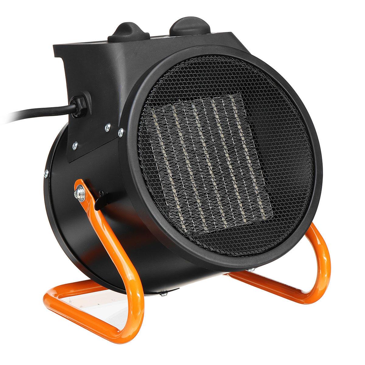3000W Electric Industrial Fan Heater Waterproof IPX4 Workshop Garage Warmer