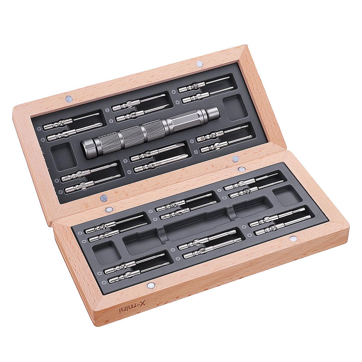 ATuMan X-mini 24 In 1 Multi-purpose Precision Screwdriver Set Repair Tool with Magnetic Storage