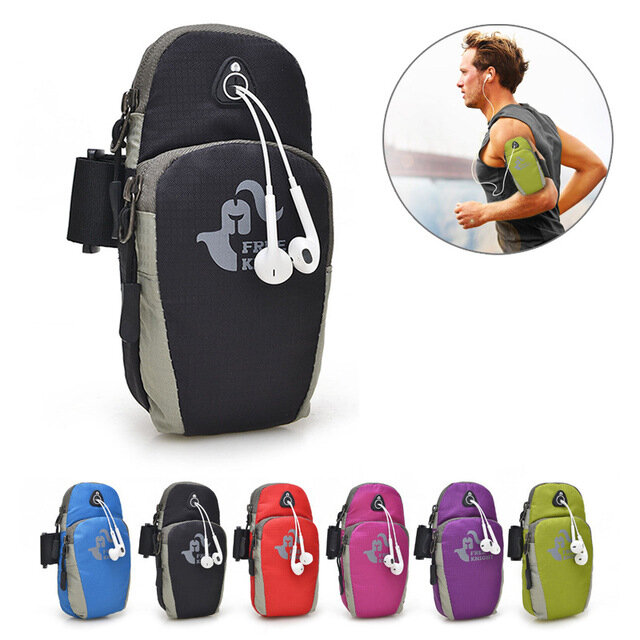 6ba18a9eca1f Free Knight 5.5 Inch Sports Running Arm Phone Bag Pouch With Earphone Hole  For iphone 7 Plus 6s Plus