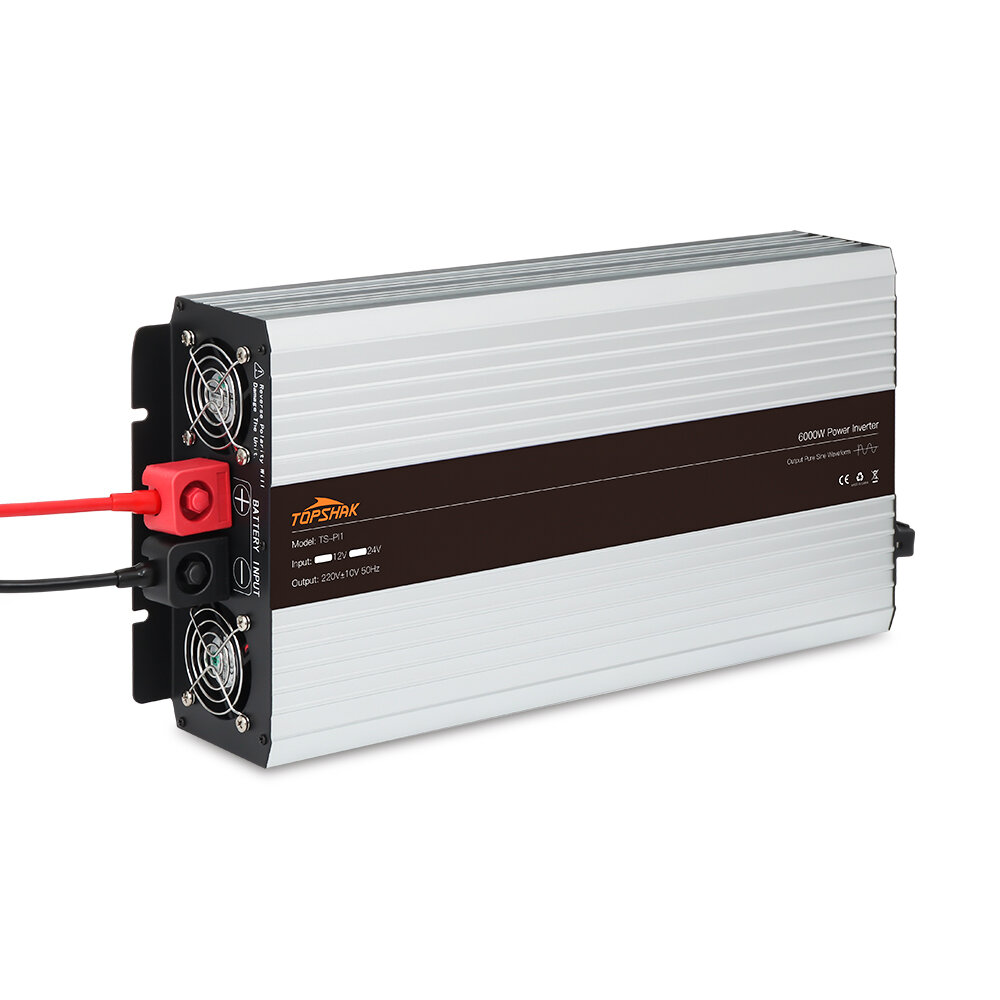 Inversor de Energia de Onda Sinusoidal Puro Tela de Cores Inteligente Conversor 12V/24V para 220V 3000W/4000W/5000W