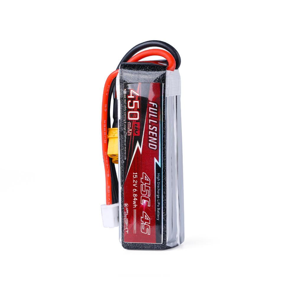 FULLSEND 15.2V 4S 450mAh HV 45C Lipo Battery XT30 Plug for RC Drone FPV Racing