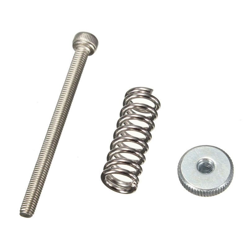 Leveling Components M3*40 Stainless Steel Screw with Spring & Leveling Knob For 3D Printer
