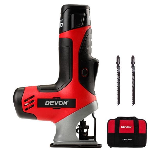 DEVON® 5804-Li-12 Mini Electric Curve Sawing Woodworking Reciprocating Saw with LED