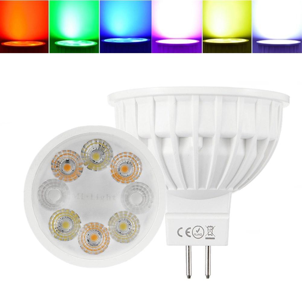 Dimmbare MR16 4W RGBCCT MiBOXER LED Scheinwerferlampe für Heim-AC / DC12V
