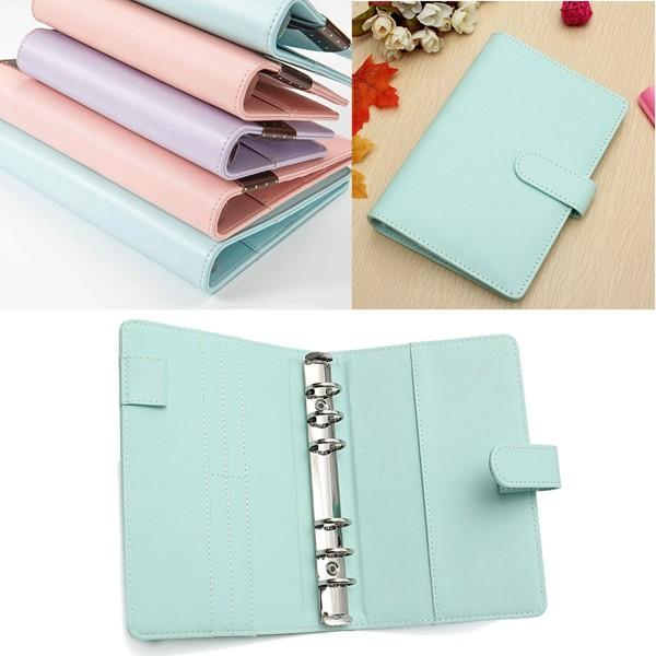 A6 Faux Leather Loose Leaf Notebook Weekly Monthly Planner Diary Cover фото