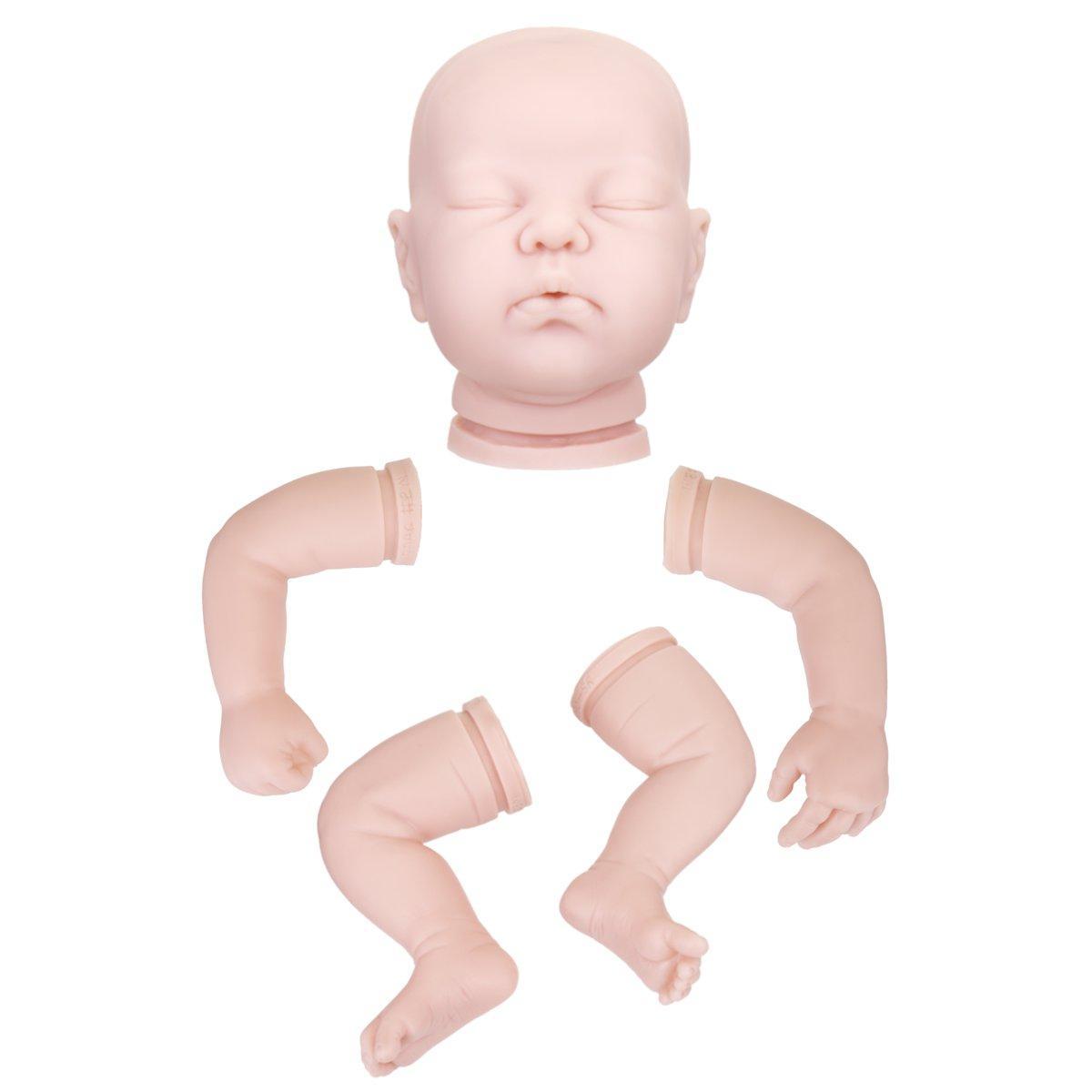 ViniloSiliconaDIYAccesoriosparamuñecas Reborn Regalos para niños pequeños sin cuerpo