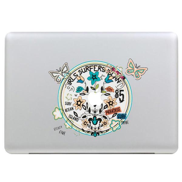 Butterfly Krans Dekal Vinyl Klistremerke Skin Shell Dekoration Laptop Klistremerke Dekal For Apple MacBook
