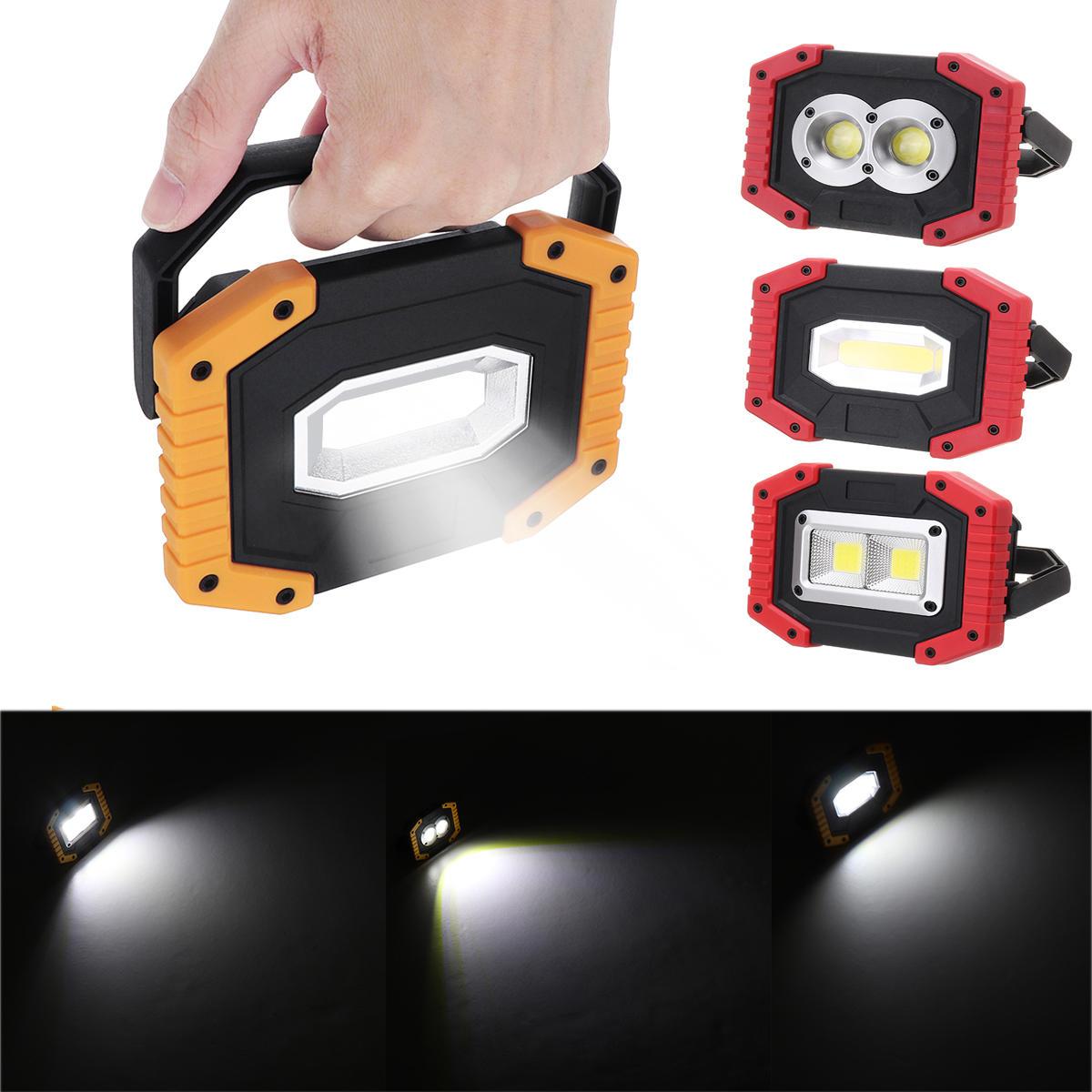 Xmund 30W USB LED COB Outdoor 3 Modes Work Light Camping Emergency Lantern Flashlight Spotlight Searchlight