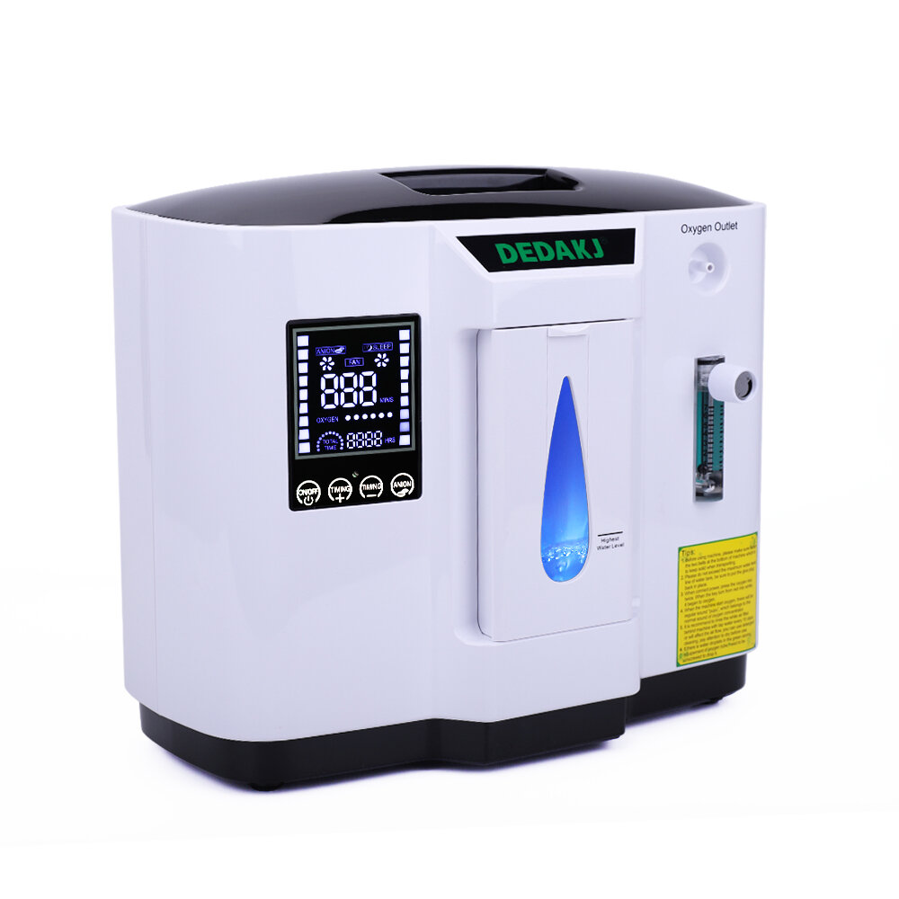 DEDAKJ DDT-1A 6L Sauerstoffkonzentrator Tragbare Luftreiniger Sauerstoffgenerator Home Oxygen Machine