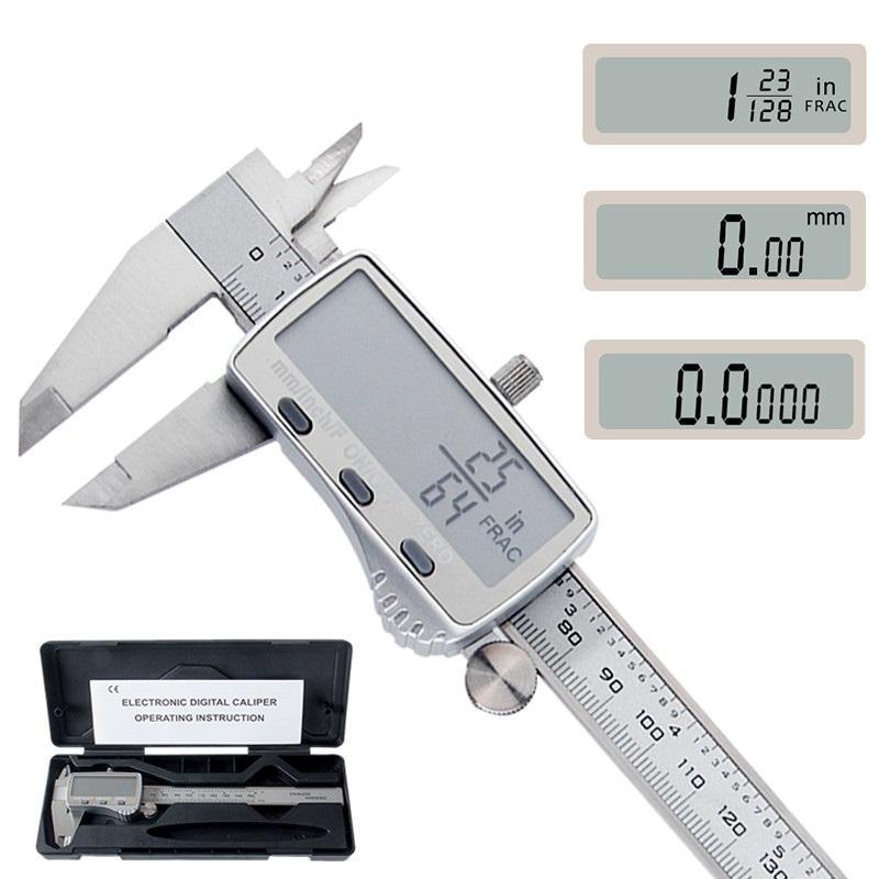 Картинка - DANIU Digital Caliper 0-150mm Metric / дюймов / Fraction Electronic Штангенциркули из нержавеющей стали Микрометр Измери