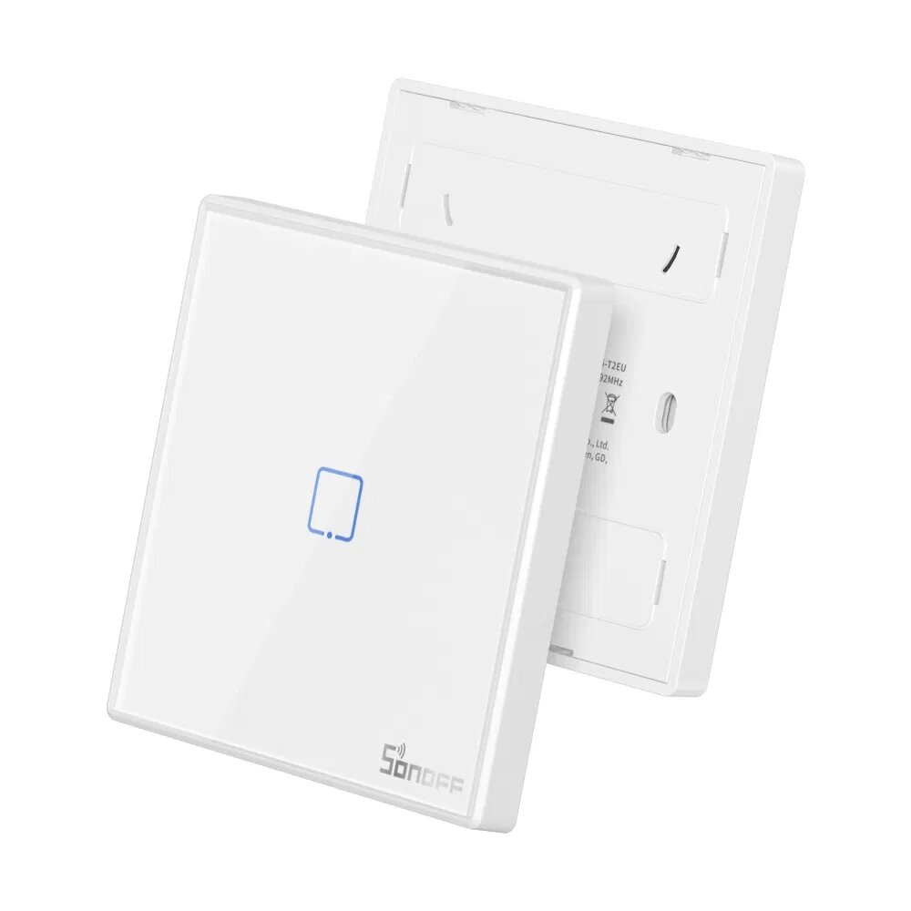 SONOFF RF Remote Controller 86 Type Wall Panel Sticky 433MHz RF Remote Control 1/2/3 Gang Works With SONOFF TX Wifi Wall