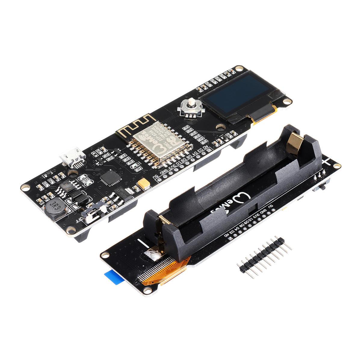 Geekcreit® D1 Bo mạch chủ ESP-Wroom-02 ESP8266 Mô-đun NodeMCU Mini-WiFi ESP8266 + 18650 Pin + 0,96 OLED