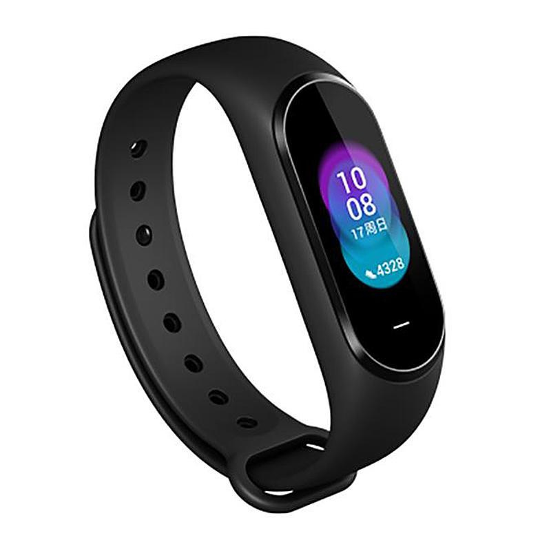 "Heijia B1800 0.95"" AMOLED Color Screen NFC 5ATM Waterproof Smart Bracelet Heart Rate Blood Pressure Monitor Smart Watch"