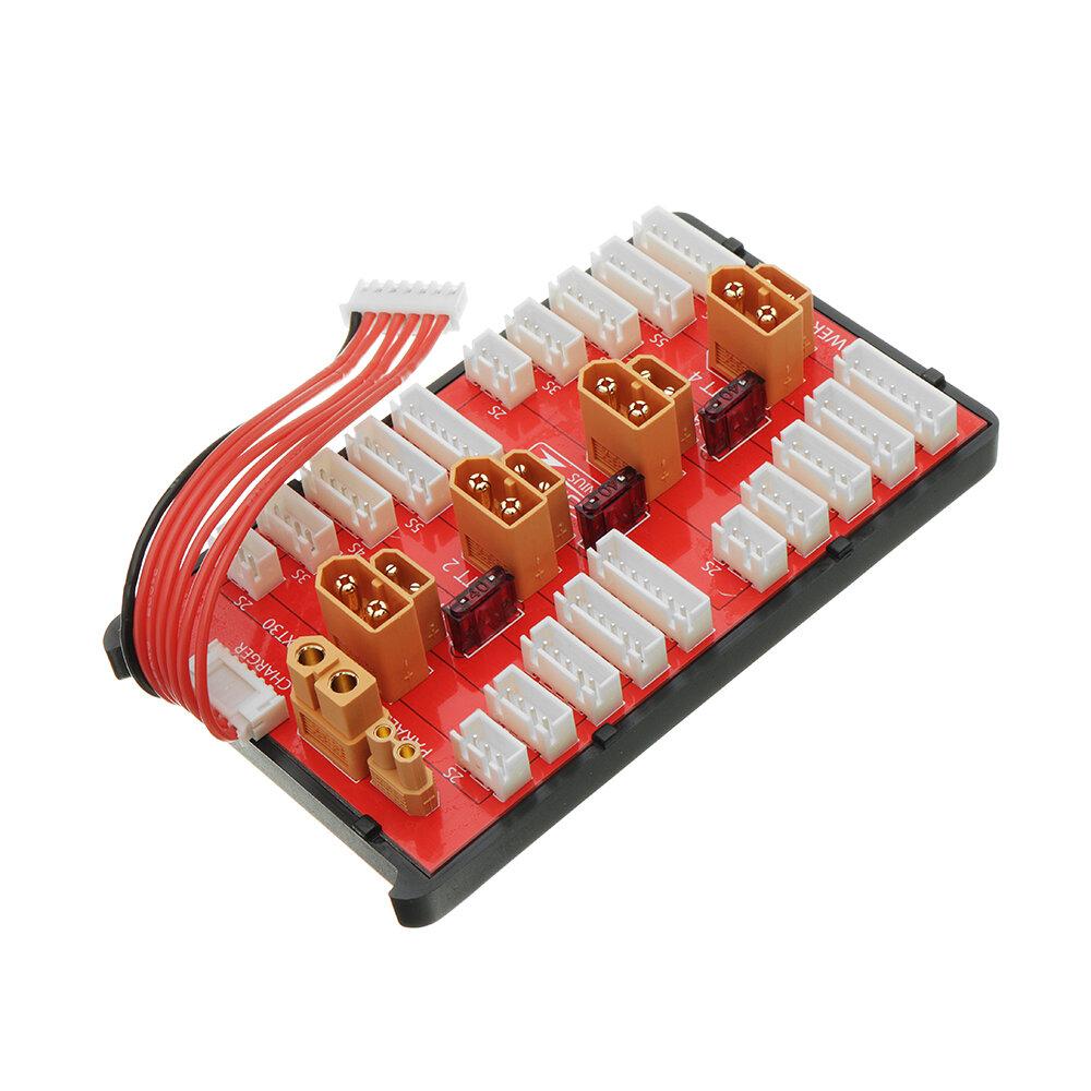 2 IN 1 PG Paralel Şarj Kurulu XT30 XT60 Fiş 4 Paketleri Destekler 2-8 S Lipo Batarya