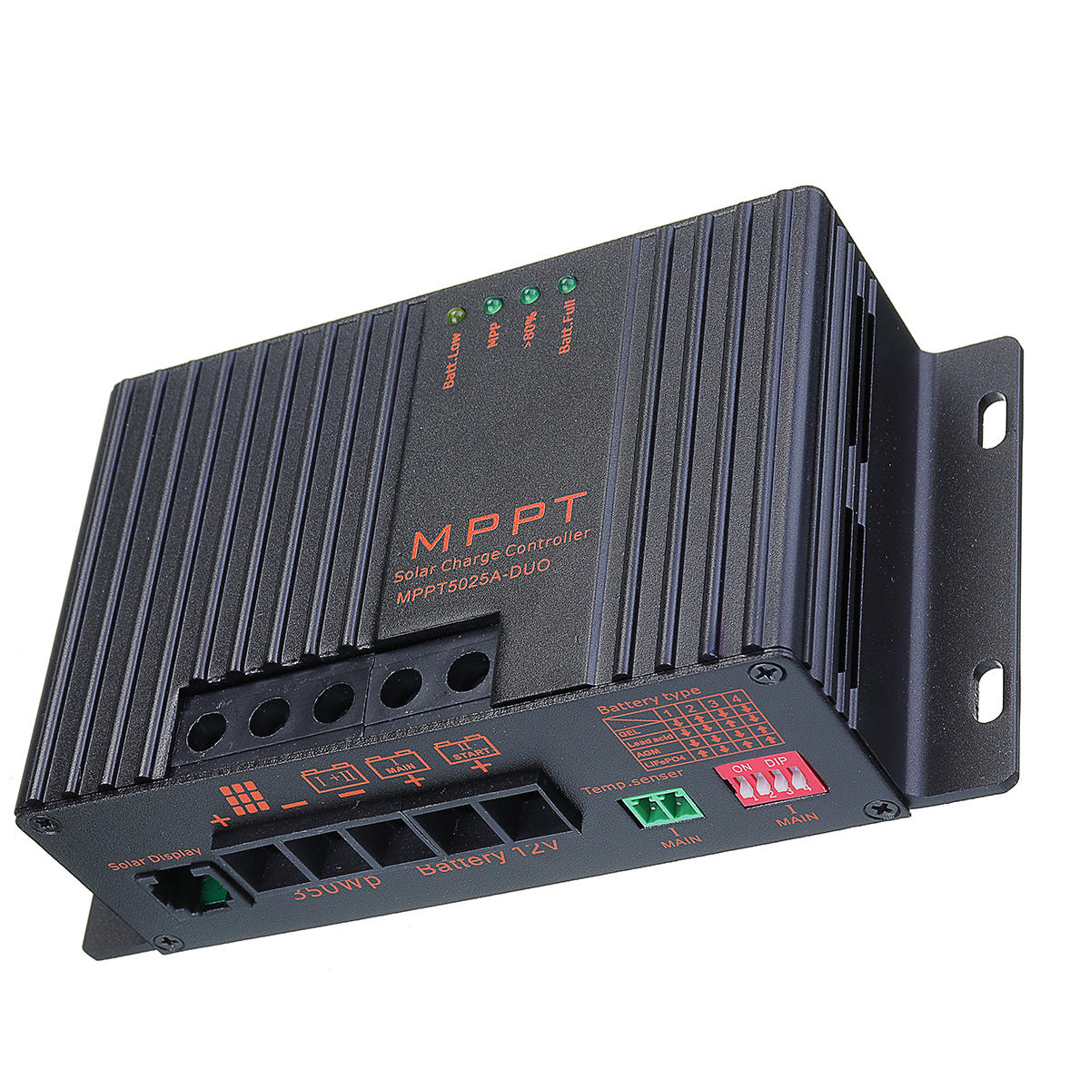 MPPT5025A-DUO MPPT 25A 12V Solar Charge Controller With LCD Solar Regulator For Solar Panel Charger