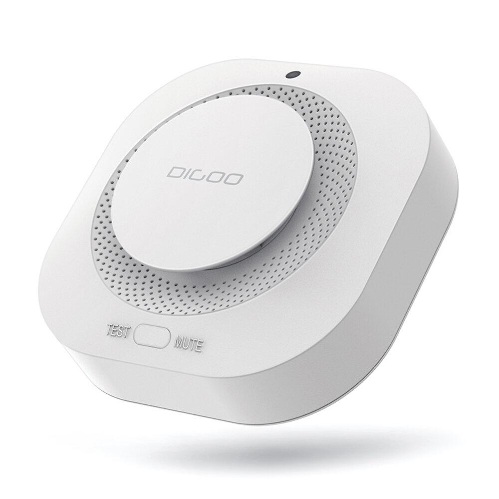 CES NEW DIGOO DG-SA01 Détecteur d'alarme incendie Détecteur de fumée photoélectrique indépendant Alerte à distance Fonctionne avec HOSA HAMA