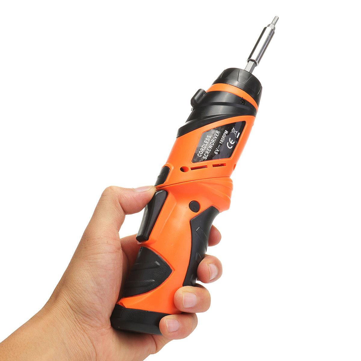 6V Lipat Listrik Obeng Power Drill Baterai Dioperasikan Cordless Screw Driver Tool