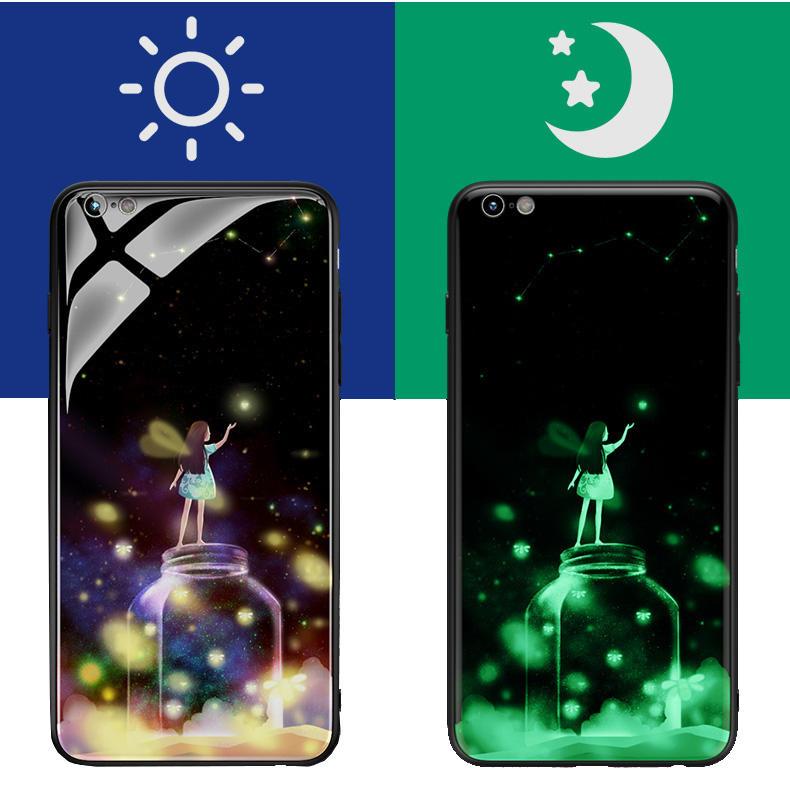Bakeey 3D Night Luminous Tempered Glass Beskyttelsesveske til iPhone 6/6s