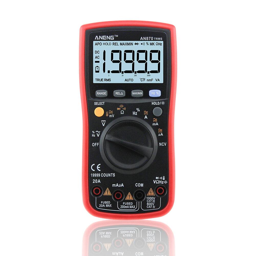 ANENG AN870 Auto Range Digital Precision Multimeter 19999 Counts True-RMS NCV Ohmmeter AC/DC Voltage Ammeter Transistor Tester