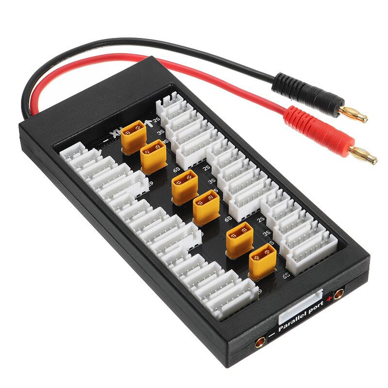 Amass XT30 Tap 2S-6S 40A IMAX B6 UN A6 için Lipo Batarya Paralel Şarj Panosu