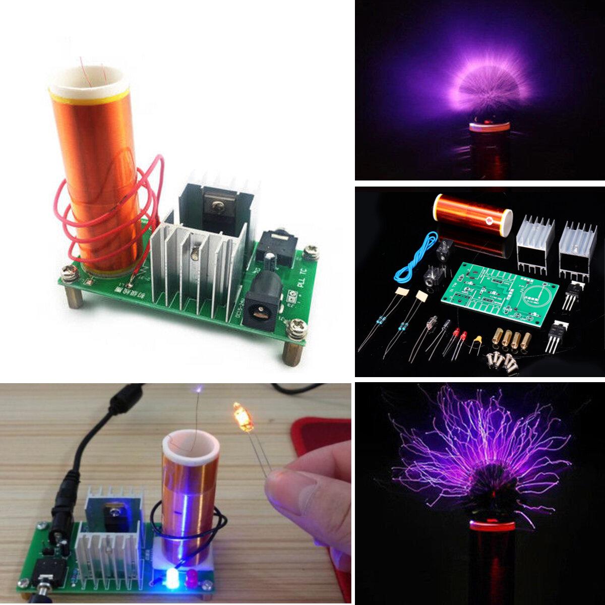Geekcreit® DIY Mini Tesla Coil Module Unassembled 15W DC 15-24V 2A Plasma Speaker Electronic Kit