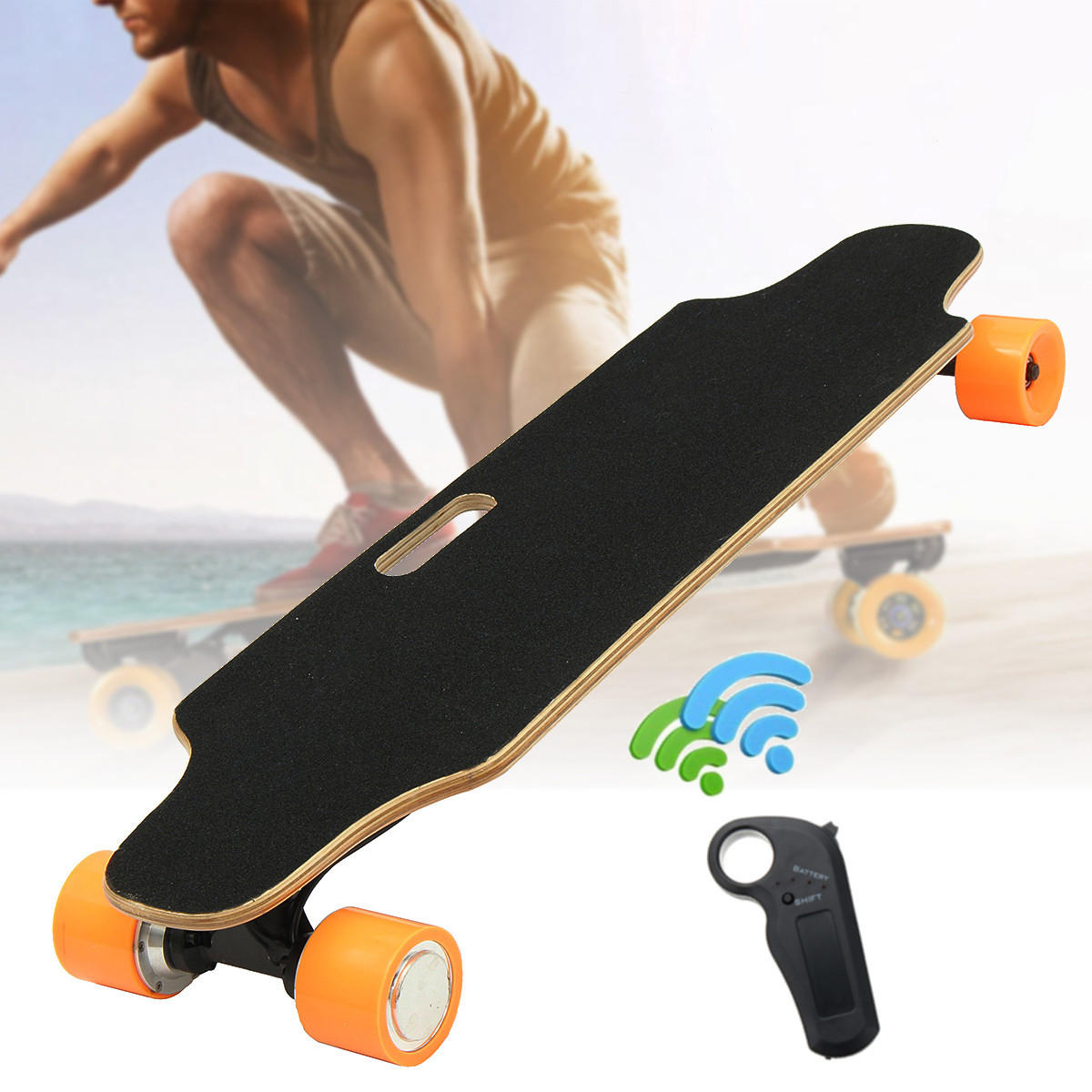 Remote Control Skateboard >> Alfas 250w 15km H Electric Skateboard Scooter Remote Control