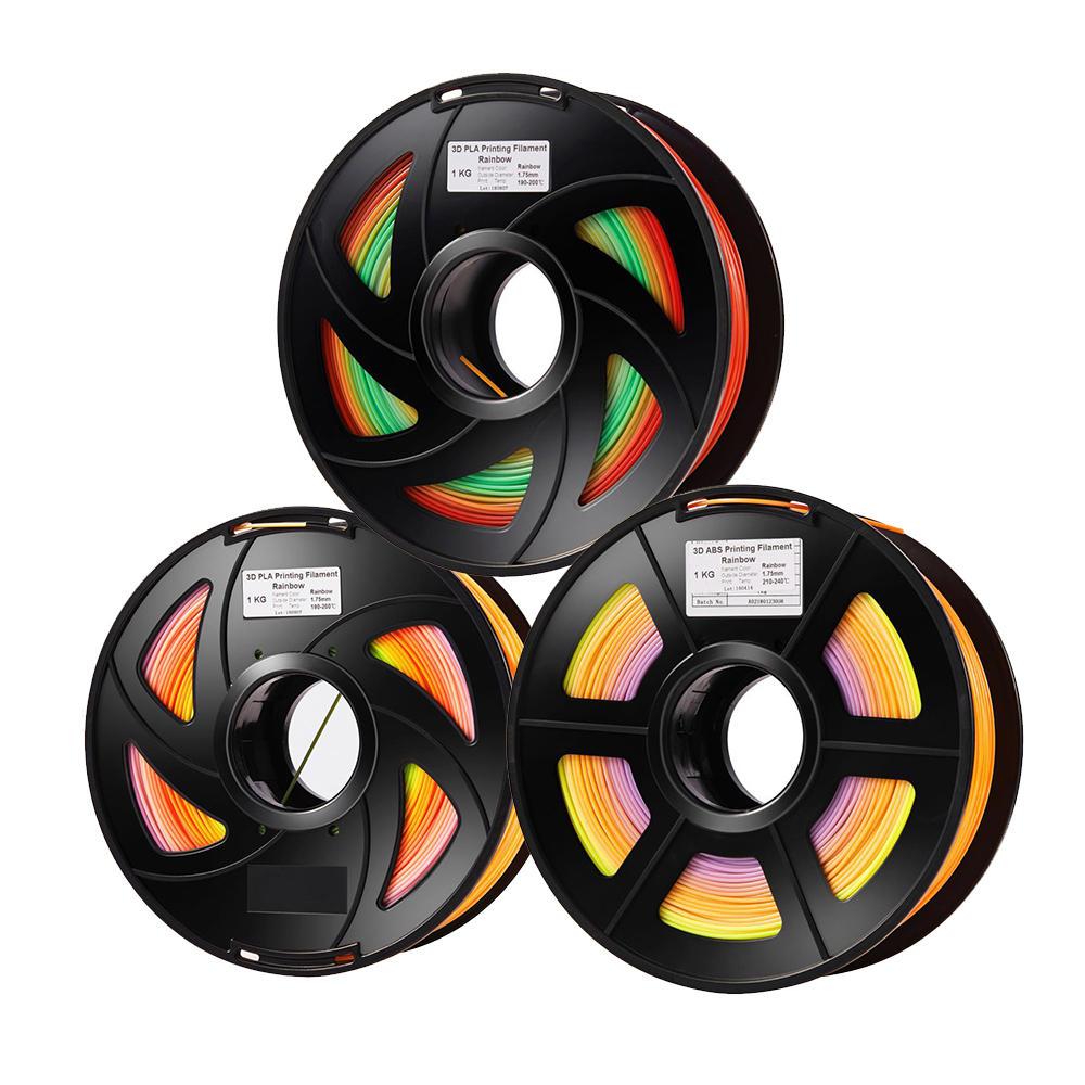 3Dプリンターのための1KG /ロール1.75mmの虹色のグラデーションPLAフィラメント