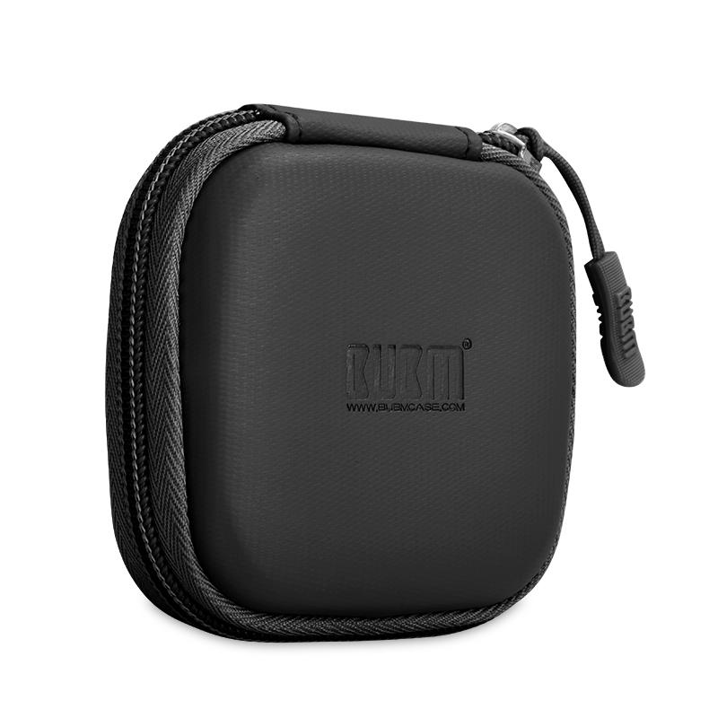 BUBM Single Layer Outdoor Portable Anti-shock Earphone Accessory Storage Bag Cable Collection Box