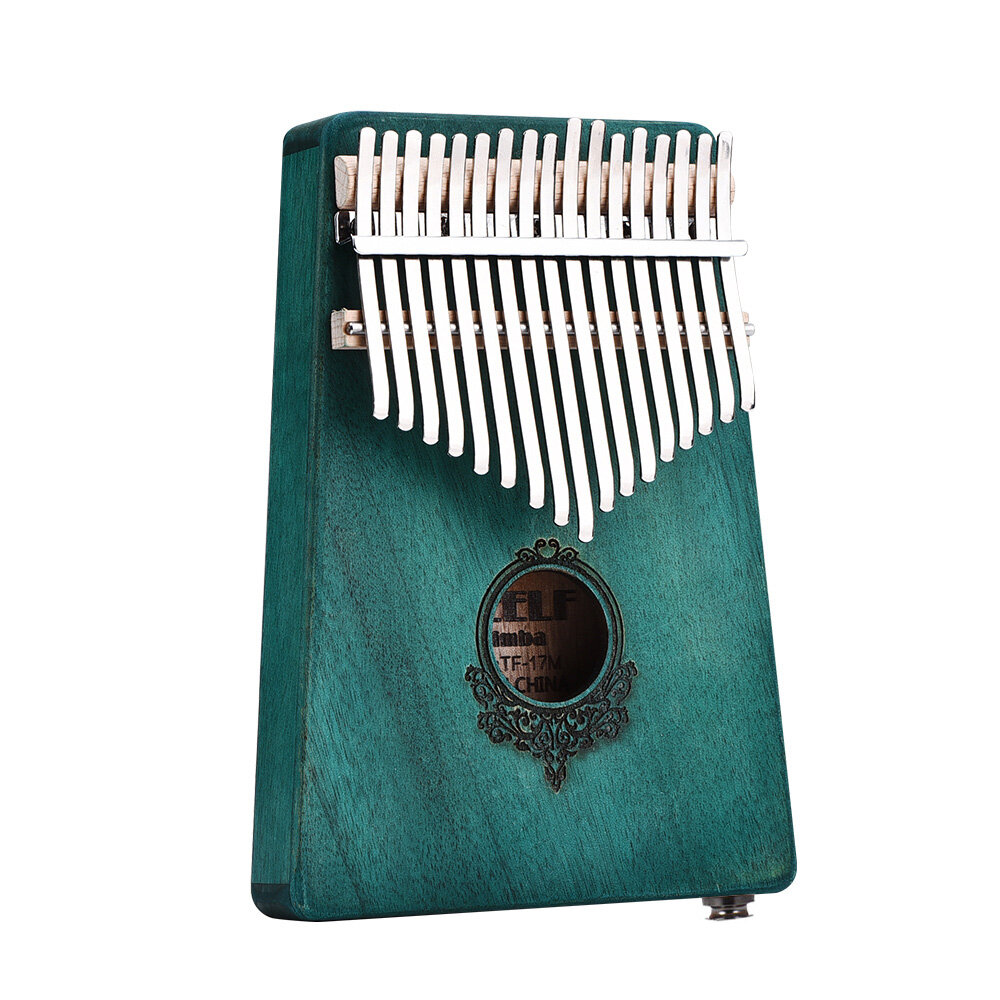 17 Keys Mahogany Wood Kalimba African Thumb Piano Mini Keyboard Percussion Instrument