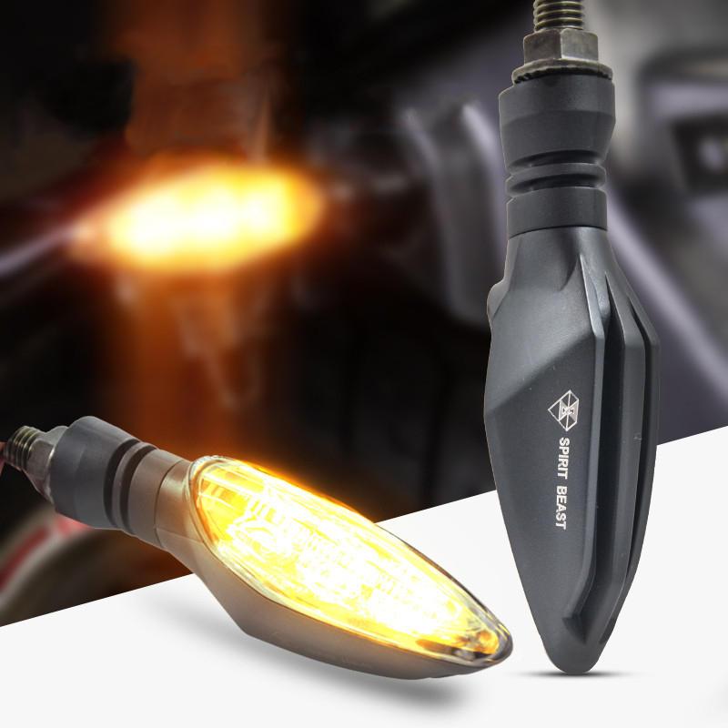 רוח הבהמה 12V אופנוע LED הפעל אותות אורות היגוי Amber סופר מוארת Waterproof