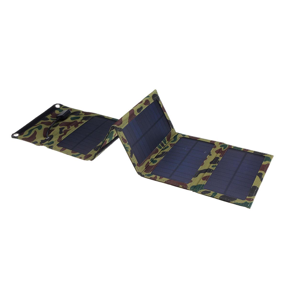 15W पोर्टेबल फोल्डेबल सोलर पैनल चार्जर फोन चार्जिंग को कैम्पिंग हाइकिंग के लिए यूएसबी पोर्ट के सा