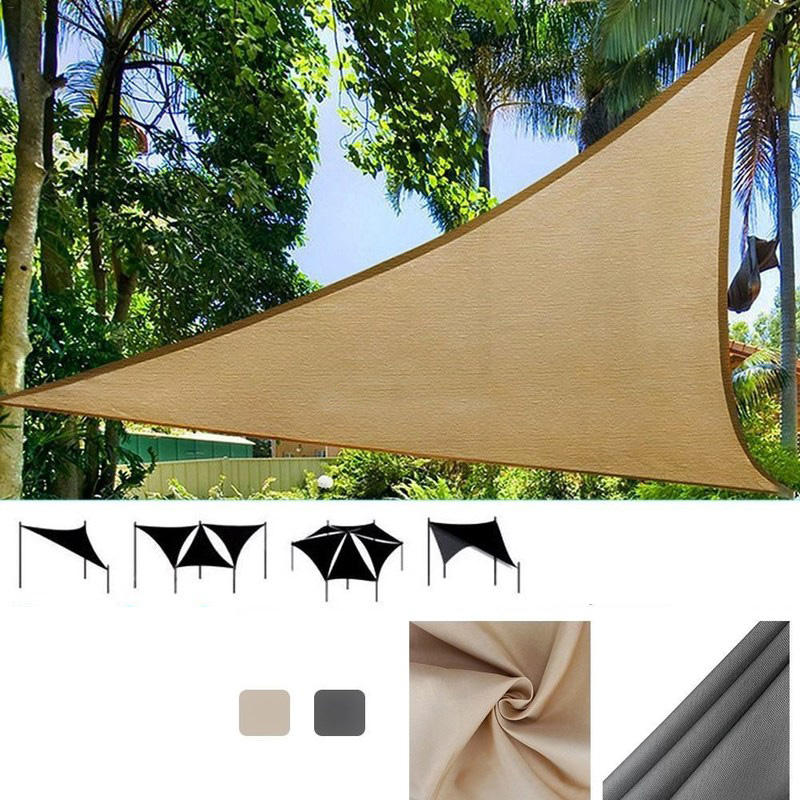 quality design 54f33 e4484 IPRee® 3x3m Triangle Sun Sail Shade Outdoor Camping Tent Sunshade  Waterproof Anti-UV Beach Canopy Awning Shelter Tarp