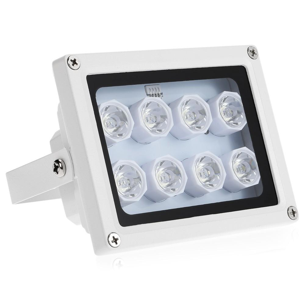 Infrared Illuminator 8 Array IR LEDS Night Vision Wide Angle Outdoor Waterproof for CCTV Security
