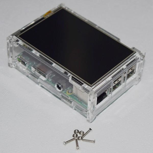DIY Clear Acrylic Case Box Shell With Screw For 3.5 Inch TFT Screen And Raspberry Pi