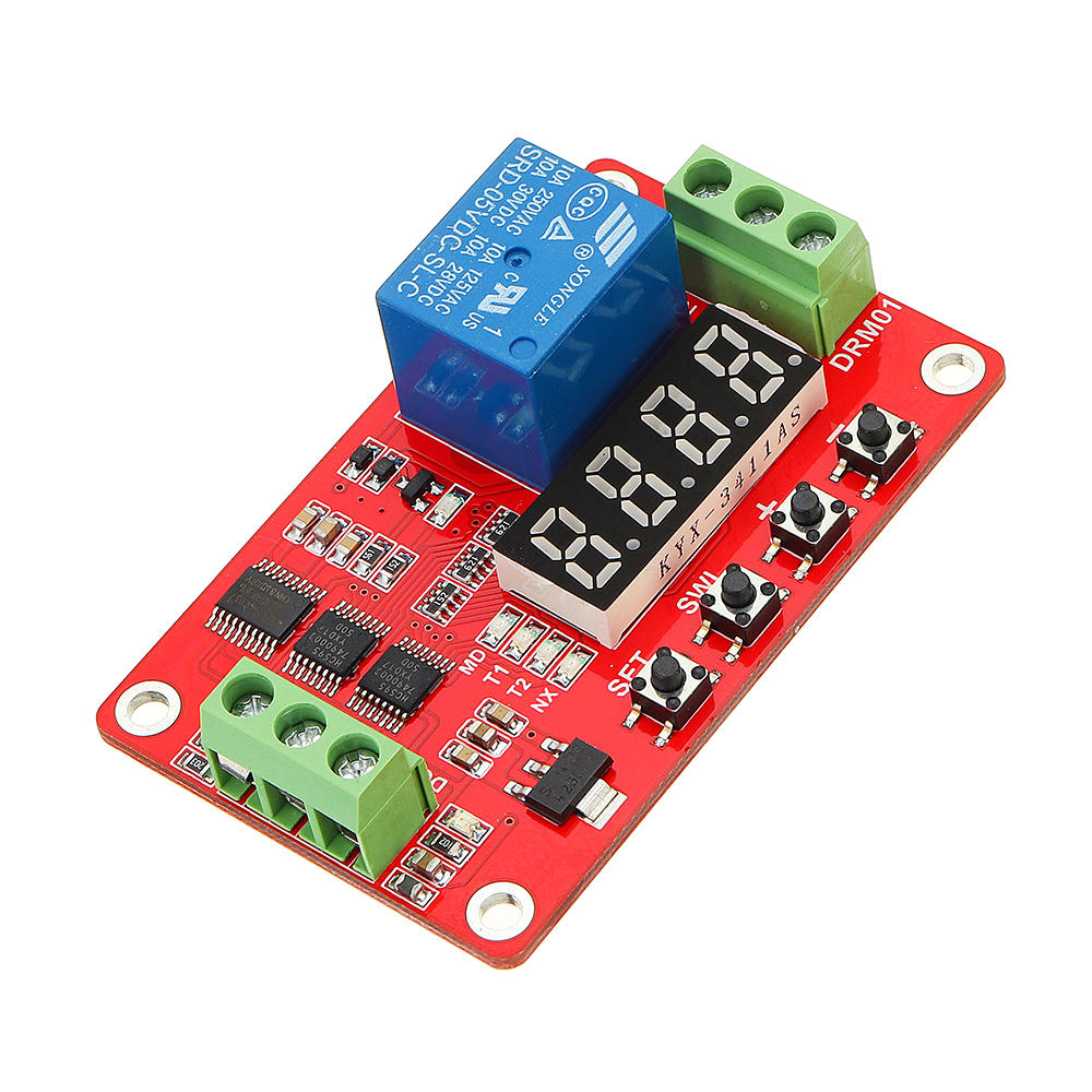 DC 12V Multifunctional Relay Module With LED Display Delay /Self Lock / Cycle / Timing