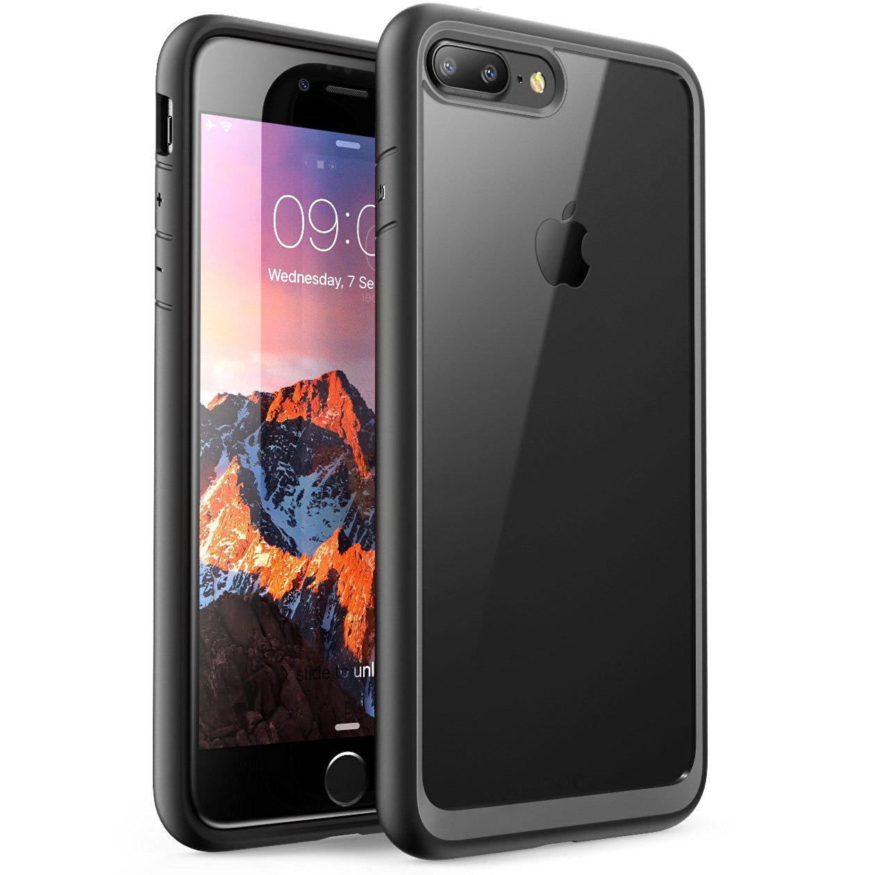 Bakeey Clear Transparent Hybrid Color Protective Case For iPhone 7 Plus/8 Plus Anti Fingeravtrykk Anti Knock