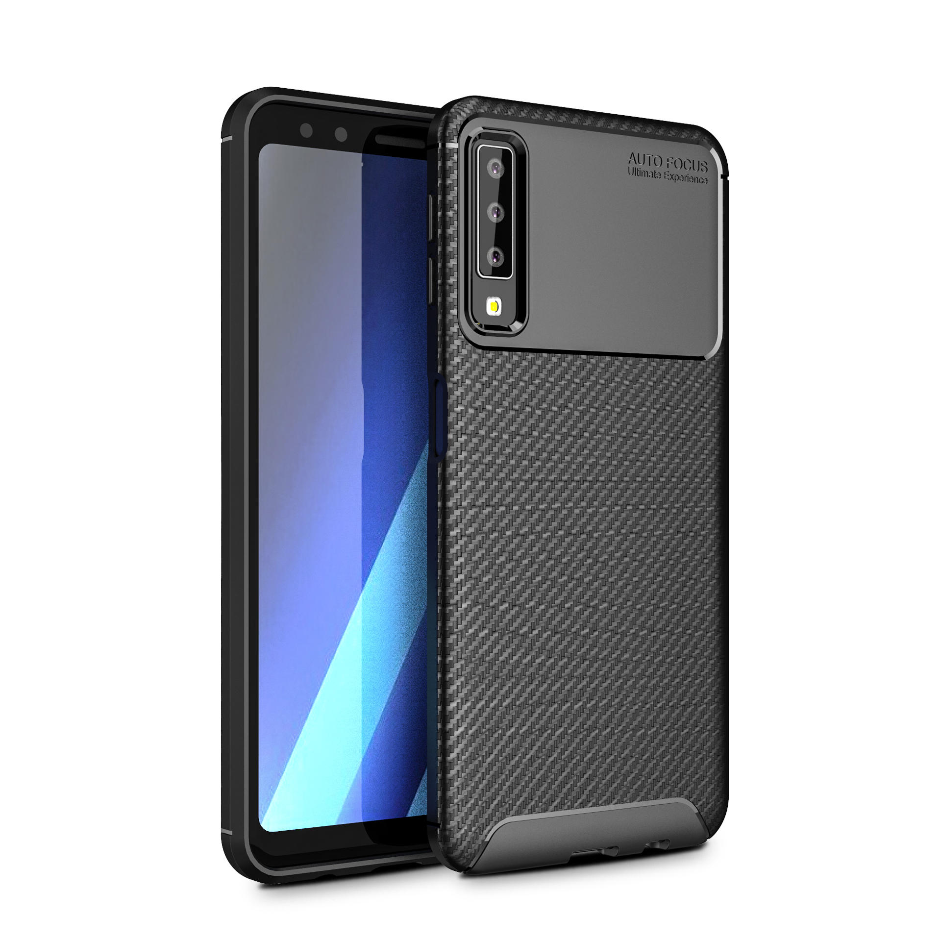 finest selection 23e4f a2084 Bakeey Protective Case For Samsung Galaxy A7 2018 Carbon Fiber Fingerprint  Resistant Soft TPU Back Cover