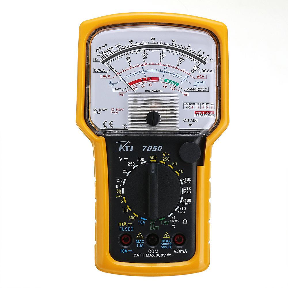 KT7050 Orijinal Otantik Hassas Analog Multimetre Hassas 50uA SMT Baskı Devre Aşırı Yük Koruması DCV ACV DCA Ω Süreklilik