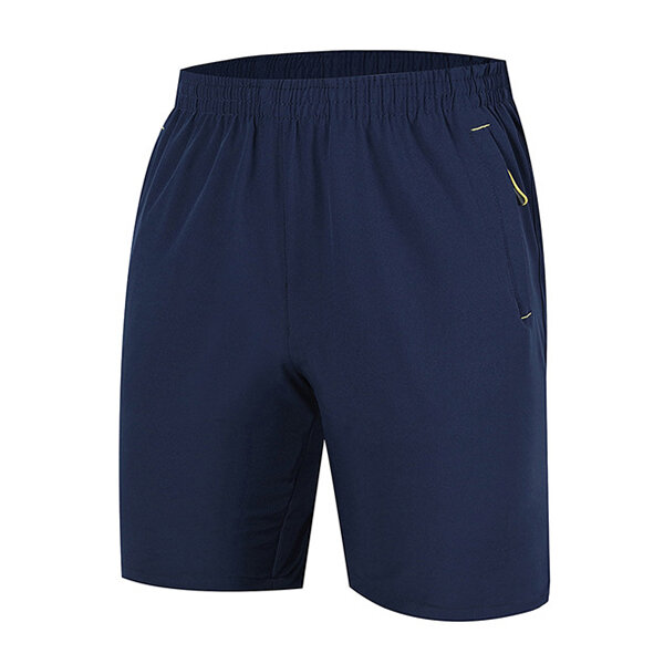 Summer Mens Running Sports Shorts Thin Breathable Quick Drying Leisure Knee-length Shorts