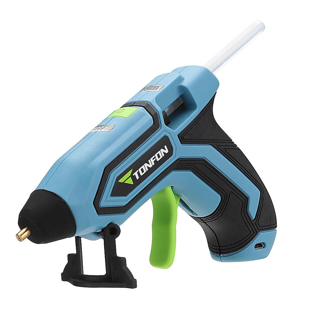 Tonfon 3.6V Cordless Hot Glue G-un USB Rechargable Melt Glue G-un Kits with 10 Glue Sticks from xiaomi Eco-System