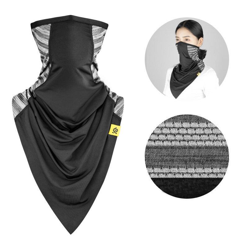 ZANLURE Multifunctional Ice Silk Sunscreen Headscarf Windproof Anti-dust Face Mask Neck Portector Cycling Fishing