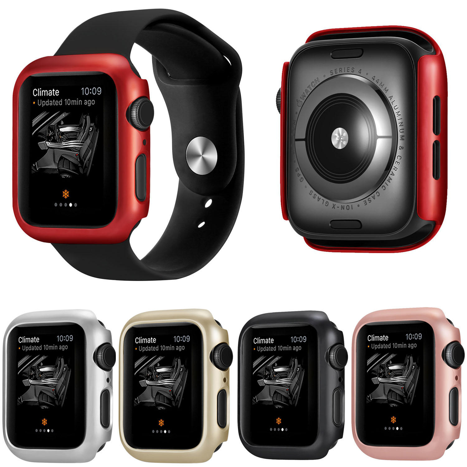 huge selection of 225c7 ecb01 Bakeey Scratch Resistant Hard PC Watch Cover For Apple Watch Series 4  40mm/44mm